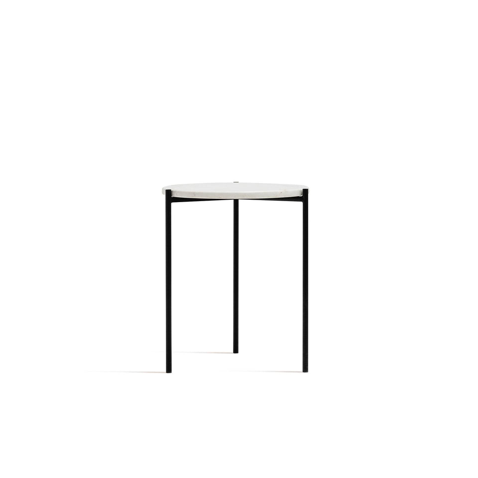 Marley Side Table - Marble Top, Black Legs Inspiration