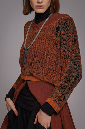 Night Foliage Dress Rust