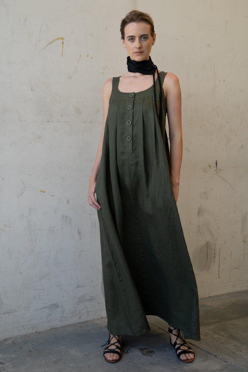 Hama Long Dress Olive