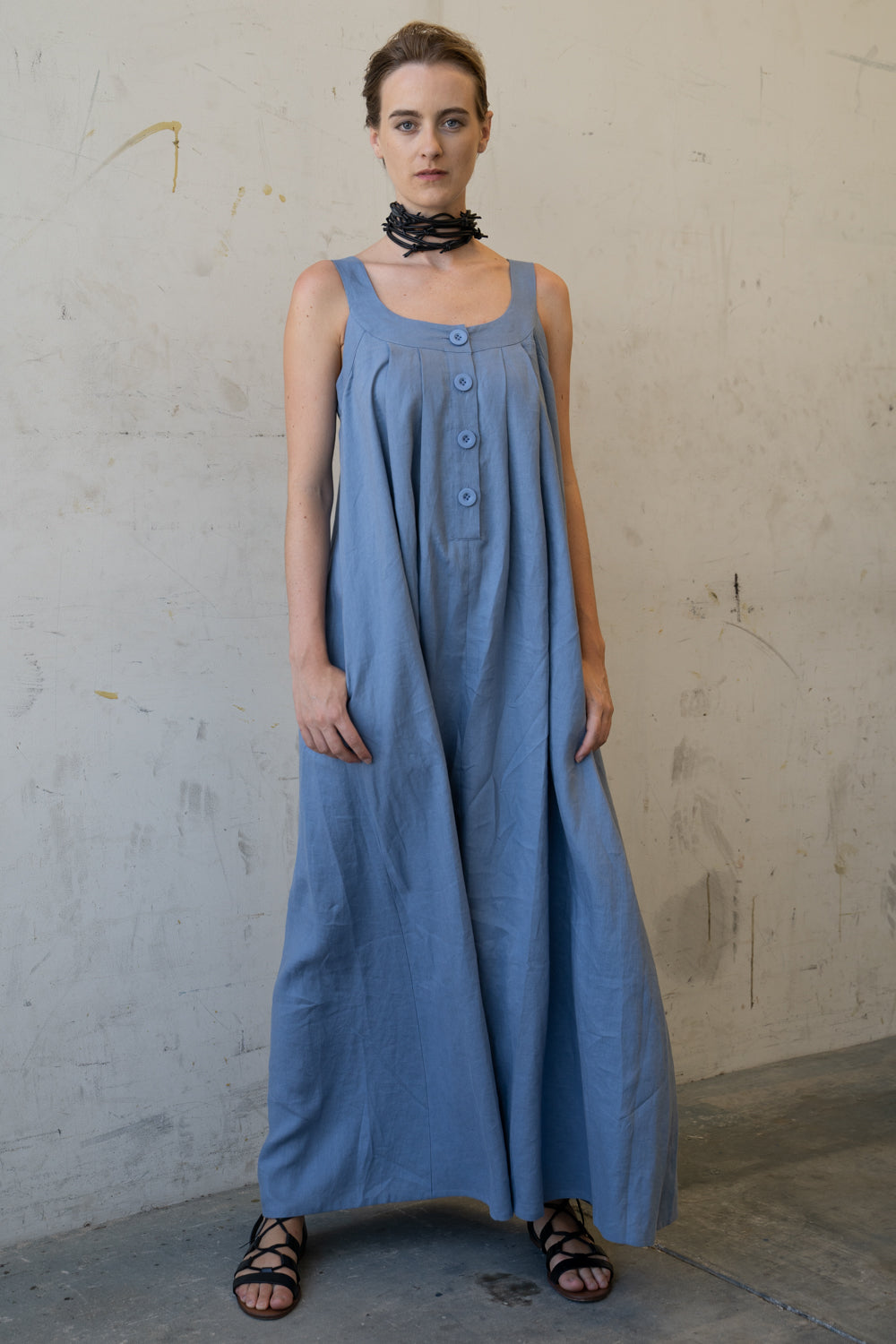 Hama Long Dress Blue