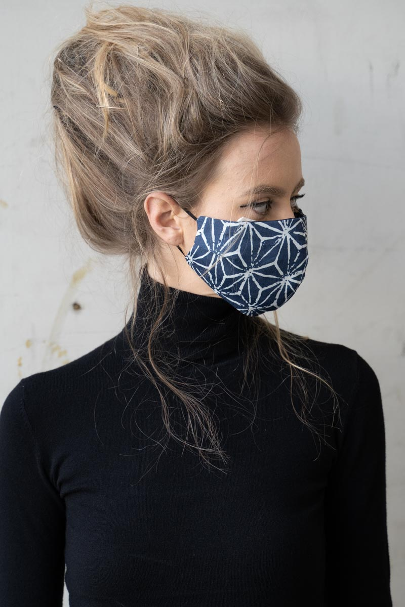 Face Cover Asanoha Blue