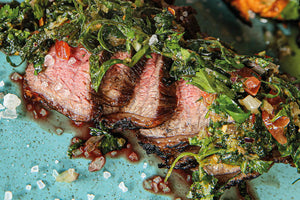 Steak Caveman Style mit Chimichurri
