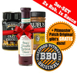 3er-Set: 2x Rubs, 1x Sauce + Pitmaster Patch Original GRATIS!