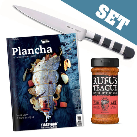 SET: Filiermesser + Bookazine + Fish Rub