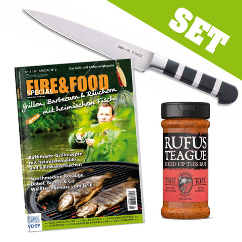 SET: Filiermesser + F&F Special Fisch + Fish Rub