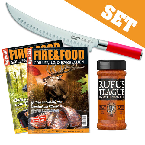 SET: Zerlegemesser + F&F Specials Wild + Meat Rub Spicey
