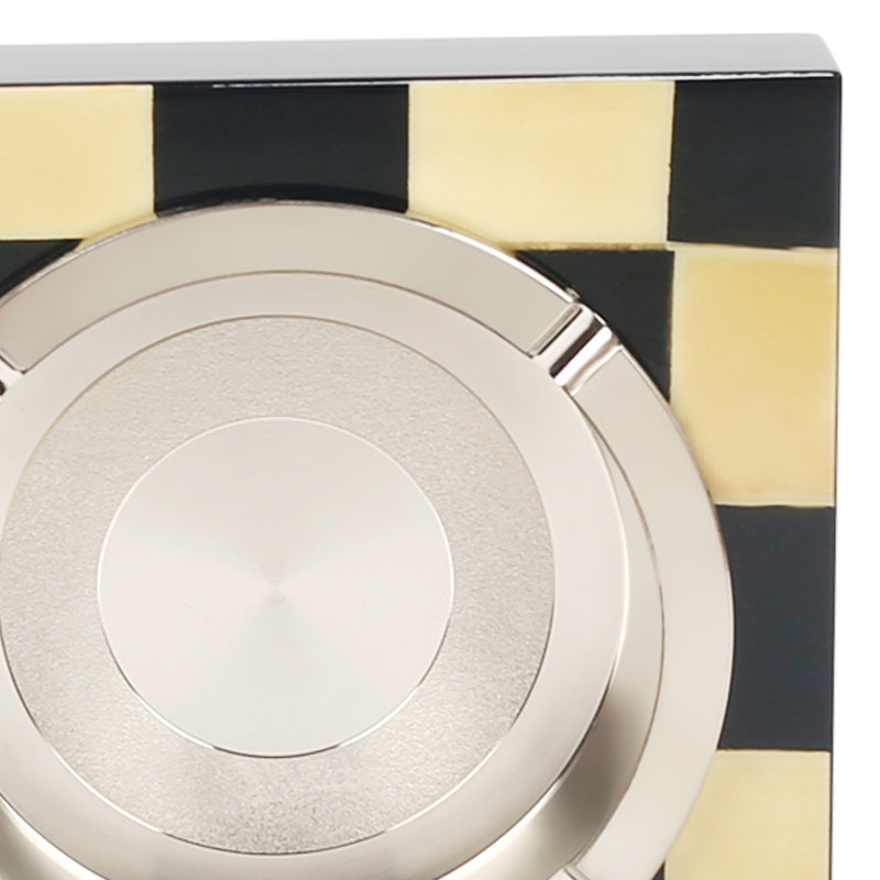 Plaid Monochrome Ashtray-Barware-The Auri Collective