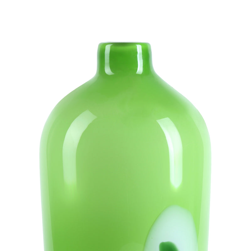 Jade Green Glass Vase-Jars & Vases-The Auri Collective