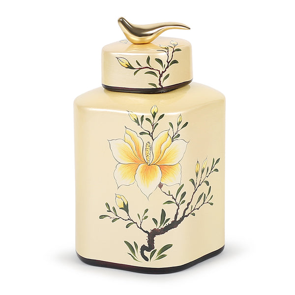 Oriental Lily Jar-Jars & Vases-The Auri Collective