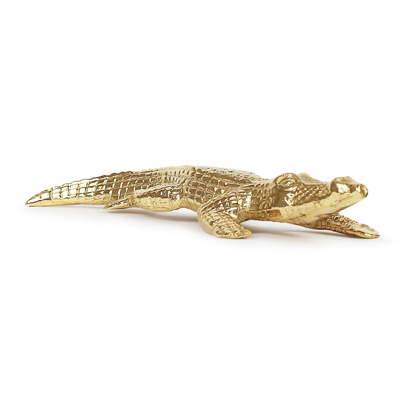 Aurum Caiman Paperweight-Sculptures-The Auri Collective