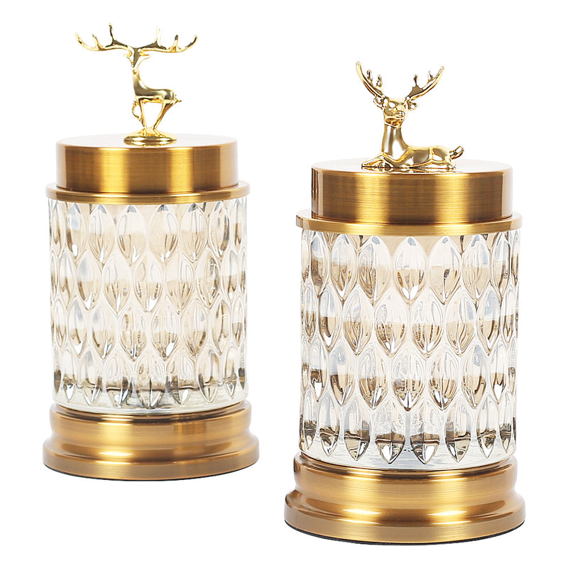 Gazelle jar-Jars & Vases-The Auri Collective