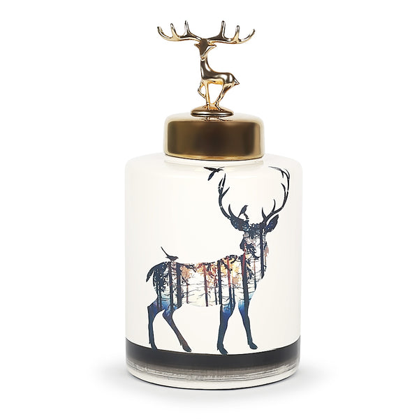 Regal Stag Jar-Jars & Vases-The Auri Collective