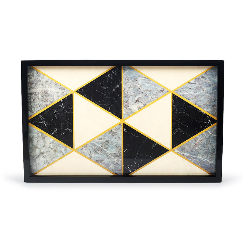 Ivory Mosaic Tray-Trays-The Auri Collective