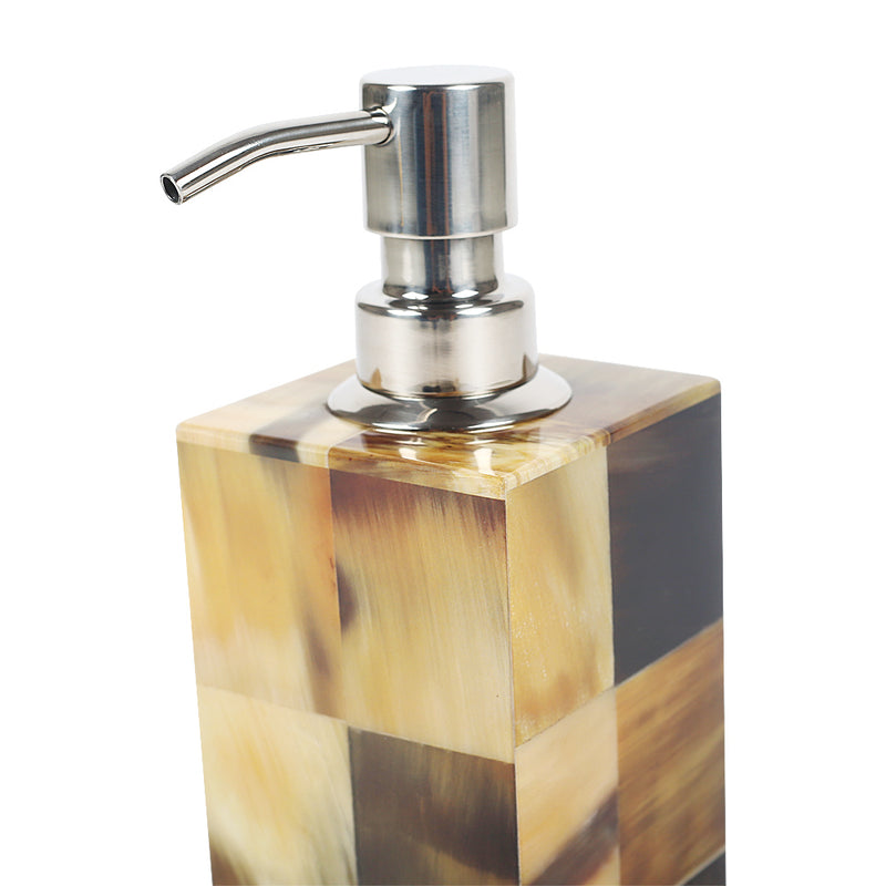 Plaid Chestnut Soap Dispenser-Decorative Boxes-The Auri Collective