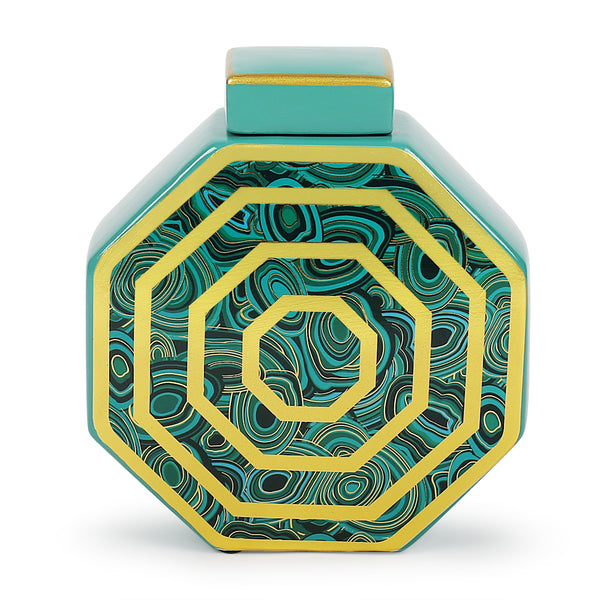 Octic Turquoise Jar-Jars & Vases-The Auri Collective