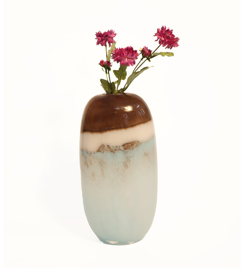 Celeste Glass Vase-Jars & Vases-The Auri Collective