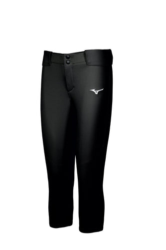Mizuno Women's Belted Black Stretch Softball Pant