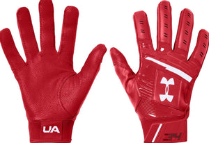 Under Armour Red Youth Harper Hustle Batting Gloves