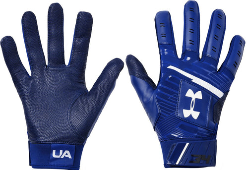 Under Armour Blue Youth Harper Hustle Batting Gloves