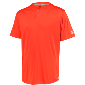 RUSSELL YOUTH PERFORMANCE TWO-BUTTON SOLID JERSEY.