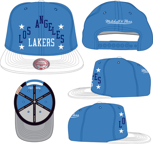 LOS ANGELES LAKERS Team Heritage Snapback HWC