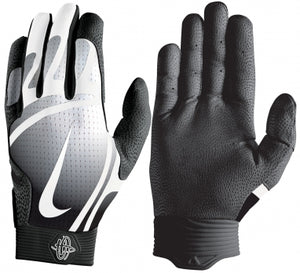 Nike Hurache Pro Adult Batting Gloves Black/White
