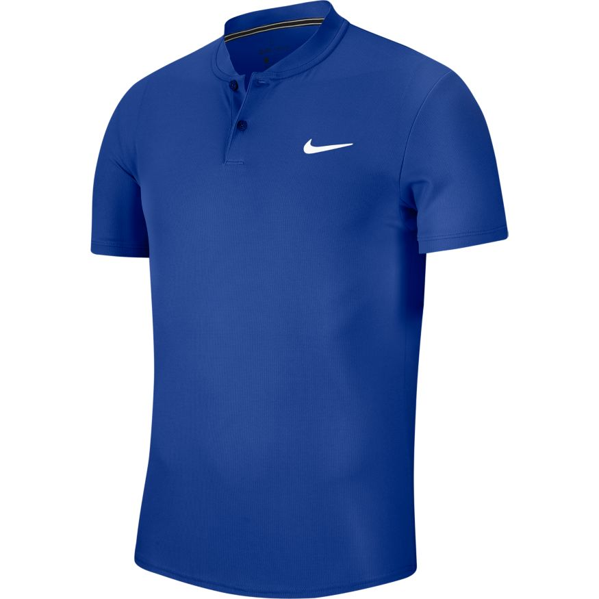 Nike Men's Tennis Polo Tee - Best Sports Blue Top