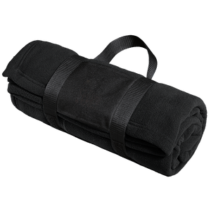 Port Authority Fleece Blanket with Carrying Strap.