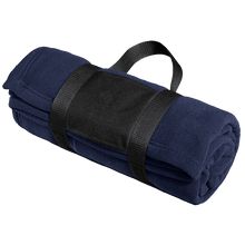 Load image into Gallery viewer, Port Authority Fleece Blanket with Carrying Strap.