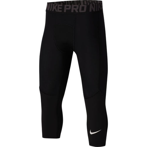 Nike Pro Kid's Length Tights - Best Sport Black Footwear