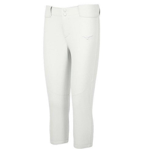 Mizuno Women's Belted Stretch White Softball Pant
