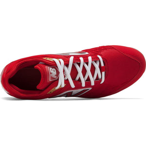 New Balance Men's 3000 V4 Red Metal Baseball Cleats