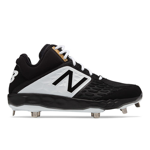 New Balance Fresh Foam Mid-Cut 3000 V4 Black Metal Baseball Cleats