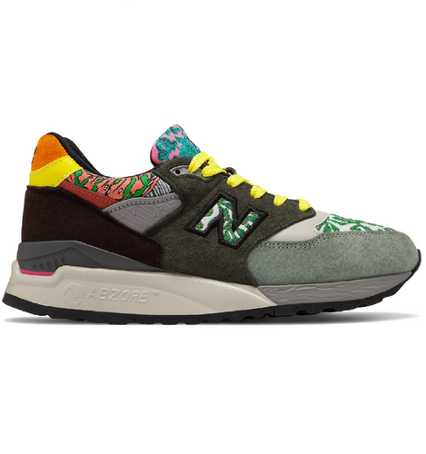 Men's New Balance 998 Multi-Color Sneakers