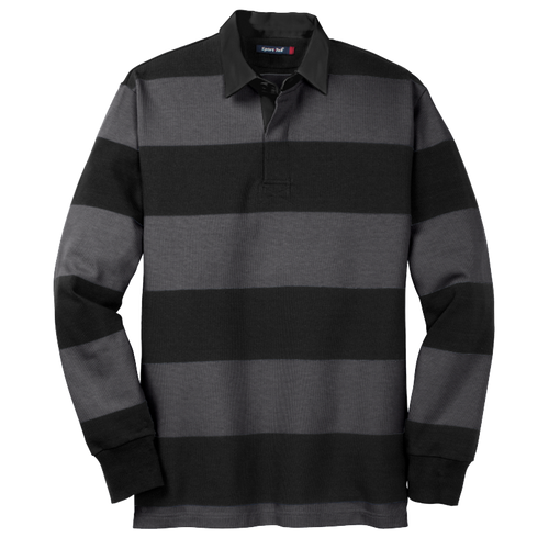 Sport-Tek® Classic Long Sleeve Rugby Polo.