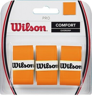 Wilson Pro Overgrip Orange 3 Pack