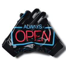 "Load image into Gallery viewer, Under Armour F6 Youth Football Gloves ""Always Open"""