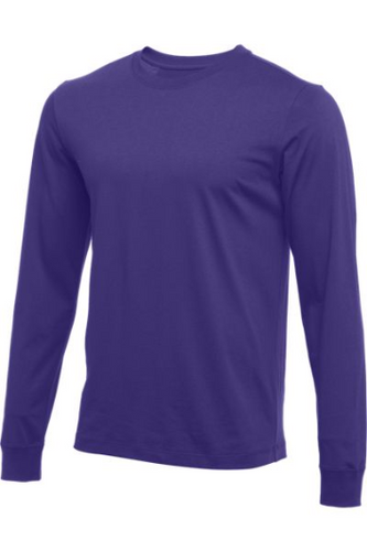 KIDS' NIKE CORE LONG SLEEVE COTTON CREW