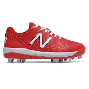 New Balance Kids' 4040 v5 RM Red Baseball Cleats