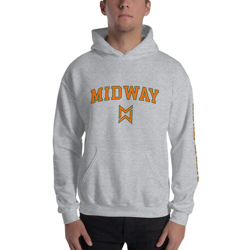 Midway Logo Sports Hoodie - Men's Best Grey Apparel