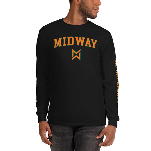 Midway Sports Men's Long Sleeve Shirt - Best Sport Black Tee