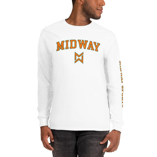 Midway Logo Men's Long Sleeve Shirt - Best Sports Tee