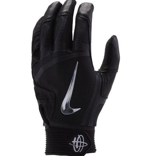 Nike Hurache Elite Adult Batting Gloves Black/Chrome