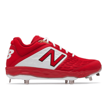 Load image into Gallery viewer, New Balance Men's 3000 V4 Red Metal Baseball Cleats