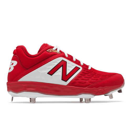 Men's Red Metal Baseball Cleats - Best Sport Shoes