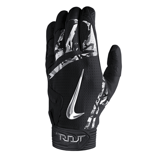 Nike Trout Elite Batting Gloves Black/Black/Chrome