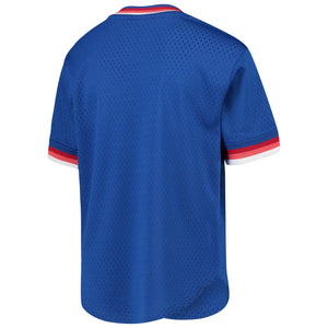 Montreal Expos Mitchell & Ness Blue Cooperstown Collection Mesh Wordmark V-Neck Jersey
