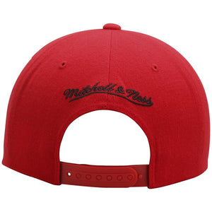 Chicago Bulls Mitchell & Ness Current Logo Wool Solid Snapback Adjustable Hat