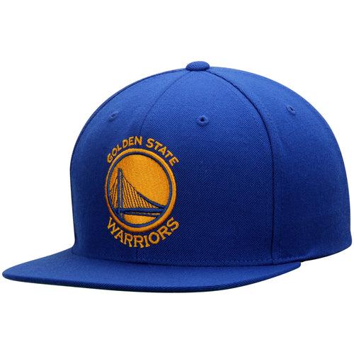 Golden State Warriors Mitchell & Ness Current Logo Wool Solid Snapback Adjustable Hat