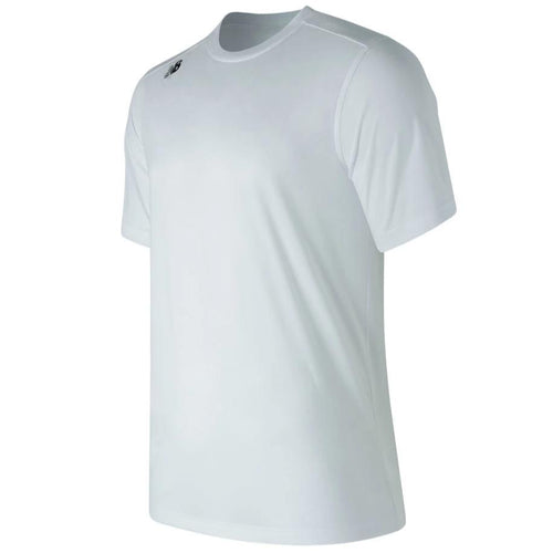 New Balance White Short Sleeve Tech Tee